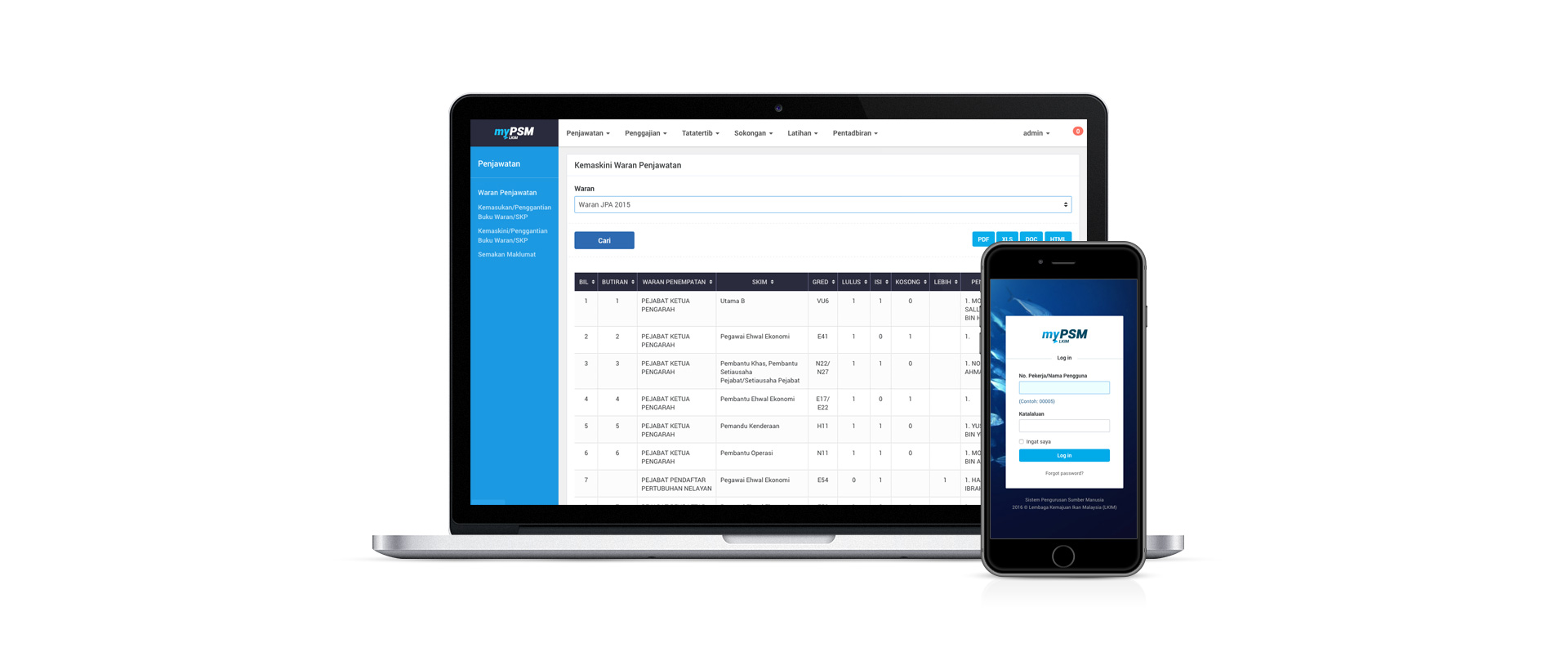 MyPSM - Human Resource Management Web App